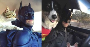 Rapaz se veste de Batman para visitar abrigos e resgatar animais da eutanásia