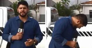 Jornalista da Globo tem ataque de fofura ao ser interrompido por gato em reportagem (veja o vídeo)