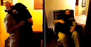 Cão enlouquece de alegria ao ver dono soldado que ficou 6 meses longe de casa (veja o vídeo)