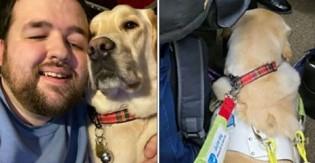 Falta de respeito: passageiros de metrô não cedem cadeira à jovem cego e seu labrador-guia