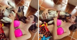 Atriz da Globo rompe relacionamento conturbado para adotar um cachorrinho