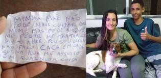 Cão abandonado com bilhete de desculpas da dona ganha novo lar em SP