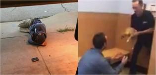 Morador de rua dorme na porta do abrigo na esperança de encontrar seu cão perdido