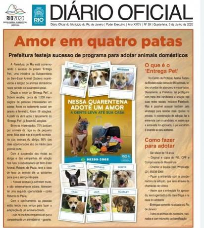 Foto: Facebook / Subsecretaria de Bem Estar Animal