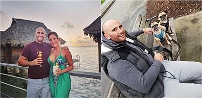 Graças a emprego de babá de animais domésticos, o casal passou 18 meses viajando pelo mundo.