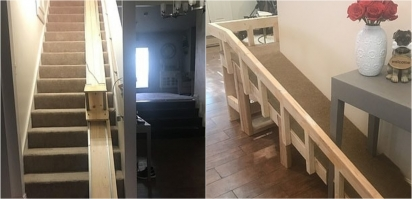 Sonya Karimi e o seu noivo Zach junto com os sogros construíram uma cadeira elevatória para os cães idosos. (Foto: Reprodução/Mercury Press & Media Ltd)