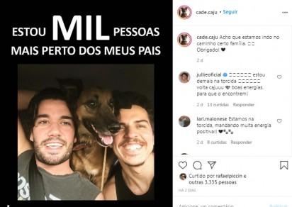 Foto: Instagram / cade.caju