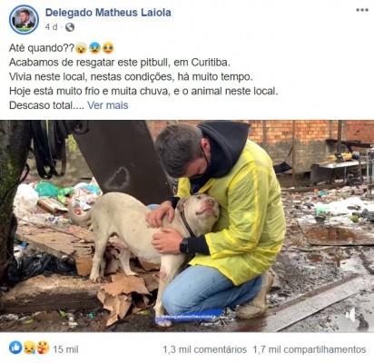 Foto: Reprodução Facebook / Delegado Matheus Laiola