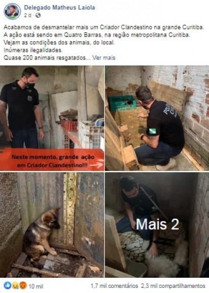 Foto: Facebook / Delegado Matheus Laiola