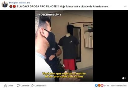 Momento em que o delegado exige explicações por tais crimes cometidos. (Créditos: Facebook/Delegado Bruno Lima)