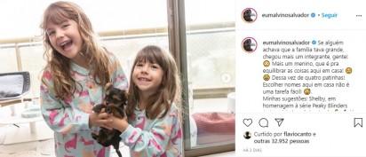 As meninas felizes com o filhotinho. (Foto: Instagram/Kyra Gracie)