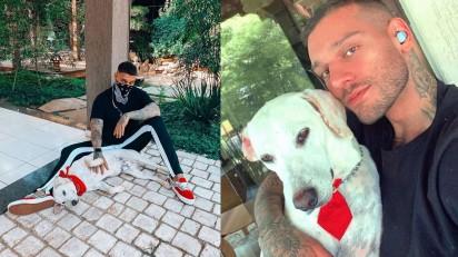 Lucas Lucco e seu cão Uaiti (Foto: Instagram/@lucaslucco)