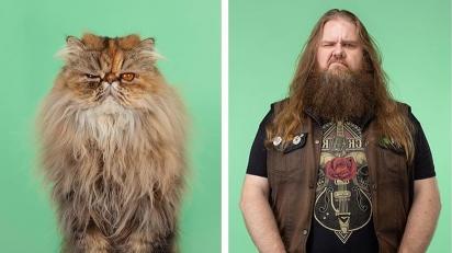 Fotógrafo cria ensaio para mostrar semelhanças entre pets e seus donos. (Foto: Instagram/ gezgethings)