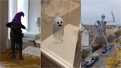 Para comemorar o Halloween, Google disponibiliza animais e personagens assustadores em 3D. (Foto: Google)