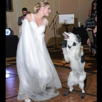 Os dois dançaram com muita sintonia. (Foto: Arquivo Pessoal/Sara Carson)