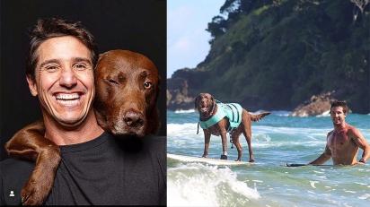 O pet influencer carioca Bono Surf Dog e o seu humano, Ivan, estarão na primeira edição do INFLUENCERS. (Foto: Reprodução/Instagram @bonosurfdog)