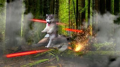 Piu piu piu piu. Direto de Star Wars. (Foto: Reddit/DrWankalot)