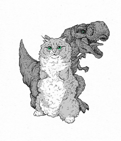 O gatinho recebeu o nome Rex em referência ao dinossauro T-Rex. (Foto: Instagram/rex2paws)