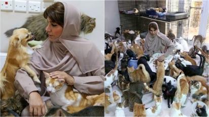 Mulher que não gostava de animais cuida atualmente de quase 500 animais em sua casa. (Foto: AFP via Getty Images)