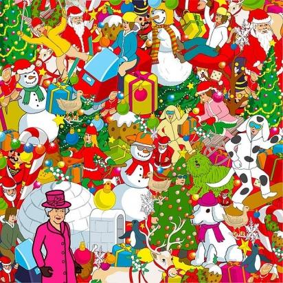 Desafio: o amigo de quatro patas da rainha está escondido entre o iglu, bonecos de neve, e enfeites de natal. (Foto: Yappy)