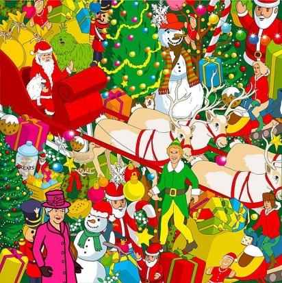 Desafio: o pequeno corgi se esconde entre as árvores de Natal, soldadinhos de brinquedo e comidas festivas. (Foto: Yappy)