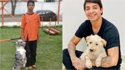 Desde criança, ele já resgatou milhares de cães e gatos abandonados e negligenciados. (Foto: Instagram/esdrasandradeoficial)