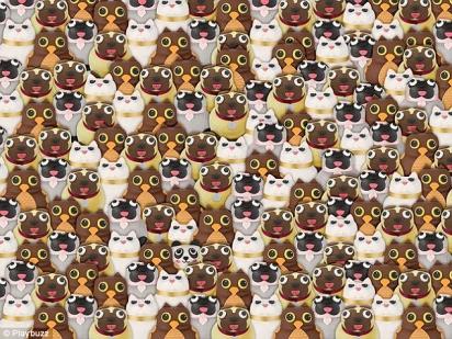 Desafio: encontrar o panda em meio aos pugs, gatos e corujas. (Foto: Playbuzz)