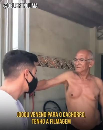 Delegado vai na casa do autor do crime para levá-lo para delegacia e ser indiciado. (Foto: Facebook/Delegado Bruno Lima)