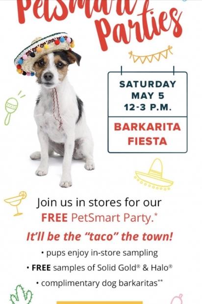 Convite do evento organizado pela PetSmart para os cães. (Foto: Instagram/pitbullnamedblu)