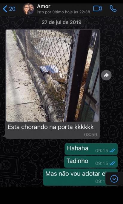 Print da conversa de Pamela e o seu marido Luiz Fernando. (Foto: Facebook/Luiz Fernando Pamela Figueiredo via Memes dos gatos encrenqueiros e sinceros)
