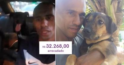 Homem é despejado de casa e pede ajuda para os seus cachorros. (Foto: Reprodução Facebook/Wellington Santos via Doacao e adocao de pets Rj)