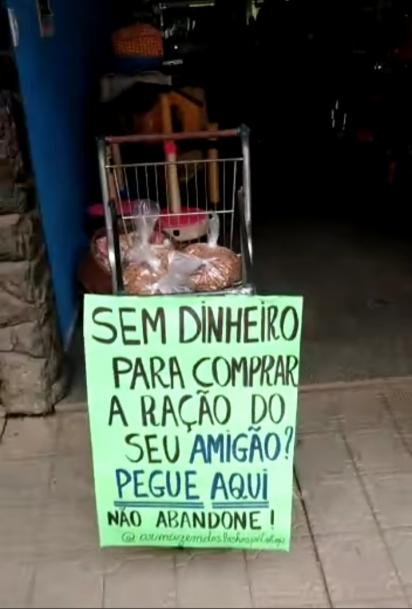 O pet shop Armazém dos Bichos, está localizado em Cataguases, Minas Gerais. (Foto: Facebook/Rafael Bruna)