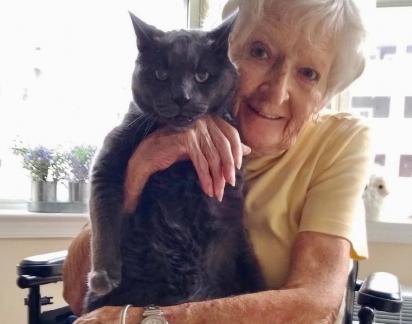 A idosa estava ansiosa pela chegada dele. (Foto: AMIGOS DE ANNE ARUNDEL COUNTY ANIMAL CARE & CONTROL)