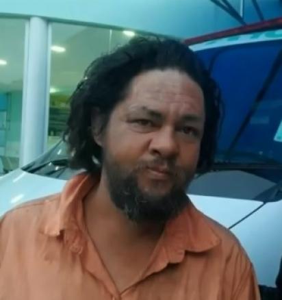 O morador de rua Miguel Bráz da Silva, de 37 anos. (Foto: Reprodução/G1)