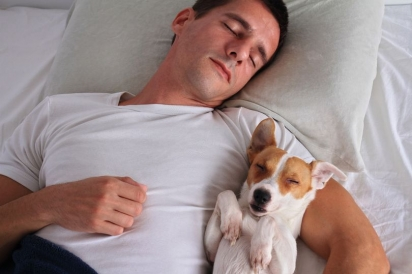 Dormir com o cachorro a probabilidade de ter uma noite de sono mais repousante é maior. (Foto: Divulgação/Getty Images)