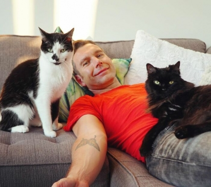 Os dois gatos foram adotados em abrigo de animais. (Foto: Instagram/shortyandkodi)