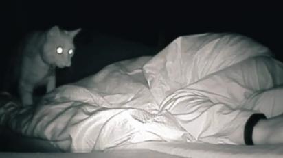 A TikToker sempre se sentia cansada pela manhã, então montou uma câmera noturna para ver o que a poderia estar atrapalhando o seu sono.