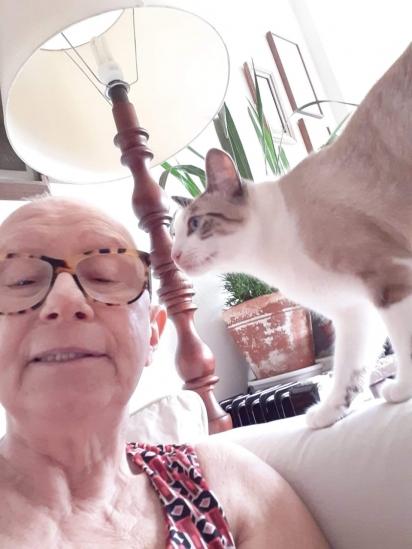 Meli descobriu a doença em 2019 e os gatinhos foram fundamentais para a sua recuperação.
