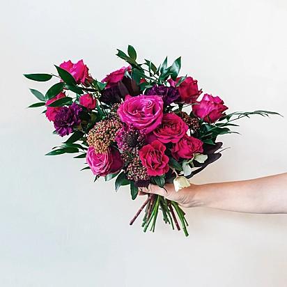 O buquê de flores especial que os cães irão entregar no próximo dia 14.