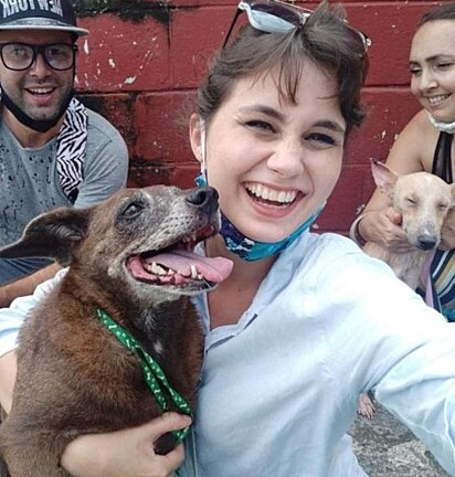 O resgate dos animais foi liderado pela Beatriz Batista.