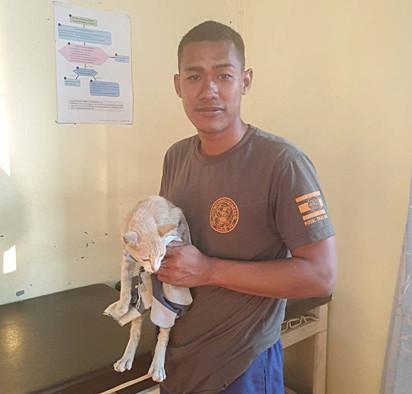 Nosso herói se chama Thatsaphon Saii, tem 23 anos e é marinheiro na Tailândia.