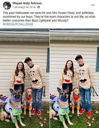 Post publicado pelo casal no grupo do Facebook.