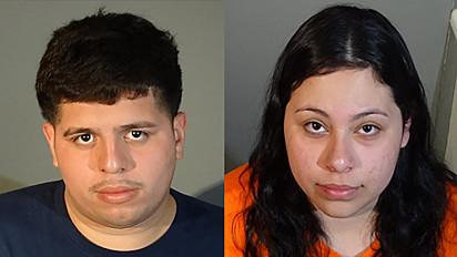 Andres Renderos (à esquerda), 23, e Rachael Sandoval (à direita), 20.