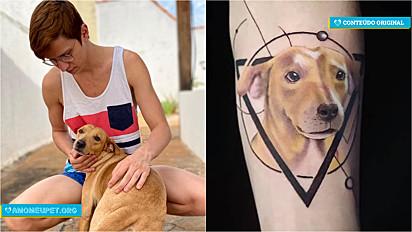 Jovem faz homenagem em vida para a sua cachorrinha e publicação no Facebook viraliza.