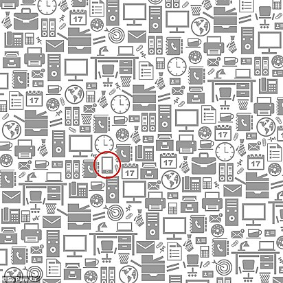 Resposta: o telefone celular escondido pode ser encontrado circulado em vermelho escondido no meio da cena.