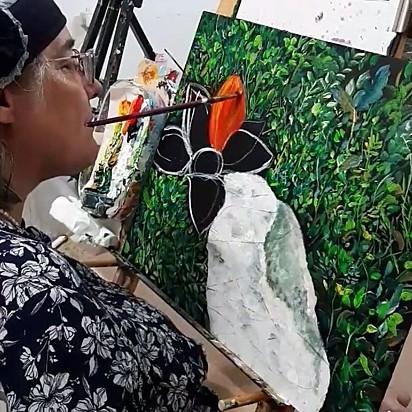 A pintora Bracha Fischel.