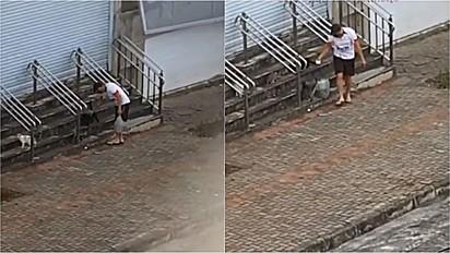 Mulher expõe com filmagem o que seu marido faz todos os dias na rua, em Belo Horizonte, Minas Gerais.