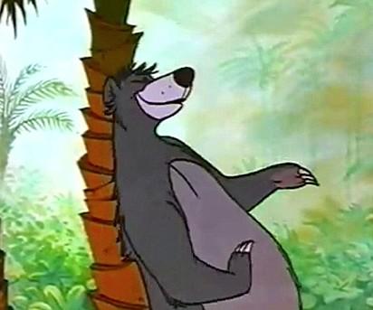 Balu, o urso personagem do filme Mogli.