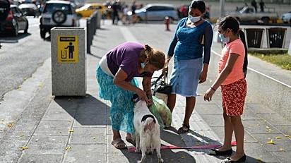 A população da cidade tem ajudado e muito a dona Irma e a sua cachorra.