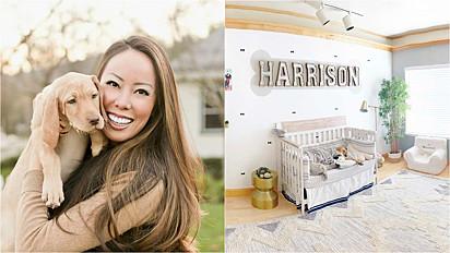 Mulher decora quarto para chegada de seu sonhado bebê: um cachorro.